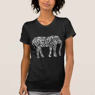 T-shirt Éléphant tribal blanc