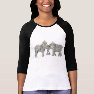 T-shirt Éléphants dans l'amour