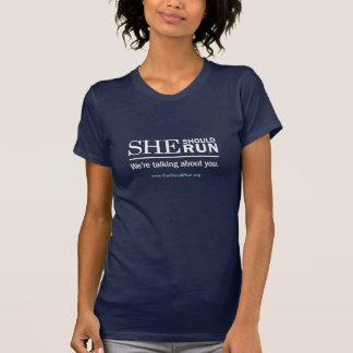 T-shirt Elle devrait courir la pièce en t
