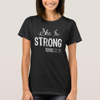 T-shirt Elle est la chemise chrétienne des femmes fortes