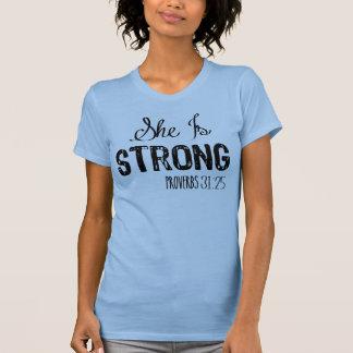 T-shirt Elle est les femmes chrétiennes fortes établissent