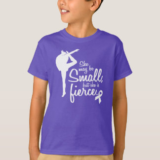 T-shirt Elle peut être petite, mais elle est pourpre
