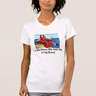 T-shirt Elle qui danse avec des bétail poursuit