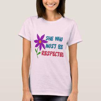 T-shirt Elle qui doit être respectée