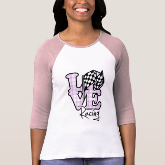 T-shirt Emballage d'amour ; Drapeau Checkered
