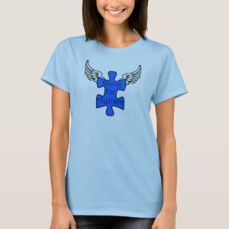 T-shirt Emballage pour la pièce en t de dames d'autisme