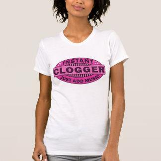 T-shirt Emblème instantané rose de danse d'entrave de