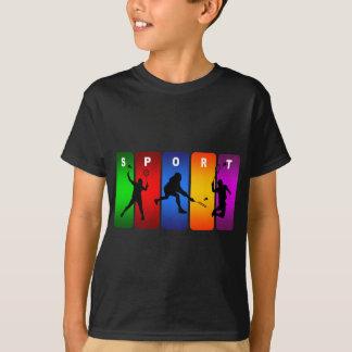 T-shirt Emblème multicolore de badminton