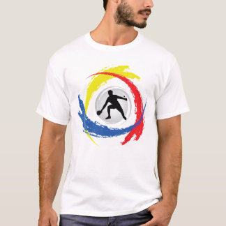 T-shirt Emblème tricolore de ping-pong
