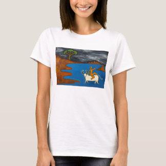 T-shirt Embrassé par la nuit foncée foncée
