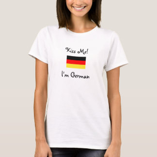 T-shirt Embrassez-moi ! Je suis allemand