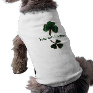 T-shirt Embrassez-moi, je suis Irlandais, pièce en t vinta