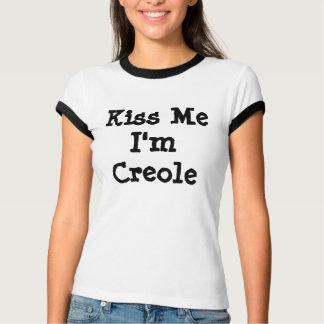 T-shirt Embrassez-moi que je suis créole