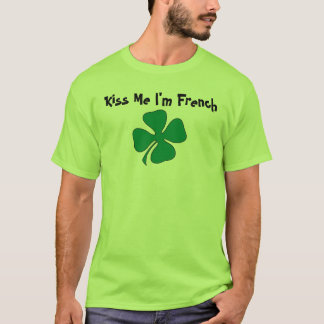 T-shirt Embrassez-moi que je suis français