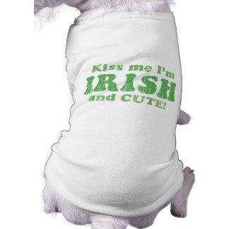 T-shirt Embrassez-moi que je suis irlandais et mignon !