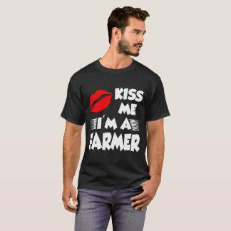 T-shirt embrassez-moi que je suis un agriculteur