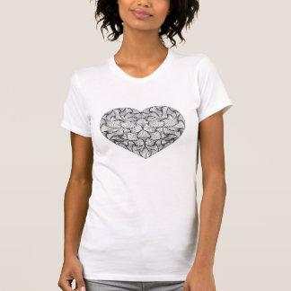 T-shirt embrouillé de coeur