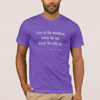 T-shirt Emerson vintage vivent dans la citation de soleil