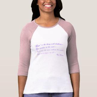 T-shirt Emily Dickinson - l'espoir est la chose avec des