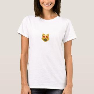 T-shirt emoji de minou (T-shirt/femmes)