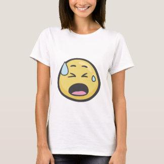 T-shirt Emoji : Visage avec la sueur froide