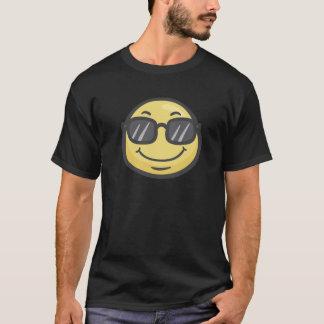 T-shirt Emoji : Visage de sourire avec des lunettes de