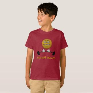 T-shirt Émoticône obtenant plus forte