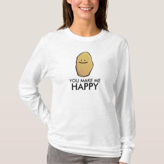 T-shirt Émoticône personnalisable de pomme de terre