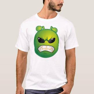T-shirt Émoticône verte fâchée