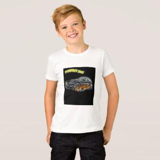 T-shirt Émotion de course de voiture de tigre de jour