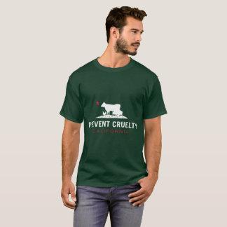 T-shirt Empêchez T-chemise-Vert unisexe de CA de cruauté