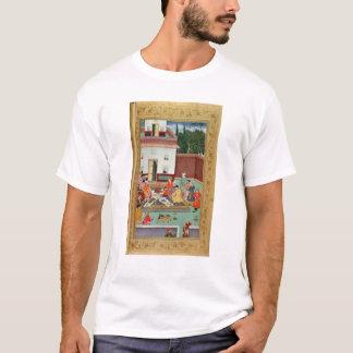 T-shirt Empereur de Mughal se régalant dans une cour