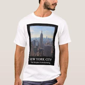 T-shirt Empire State Building d'horizon de NYC, commerce