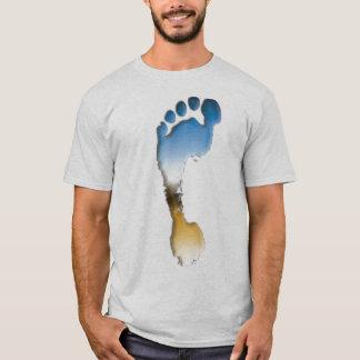T-shirt Empreinte de pas dans Crome