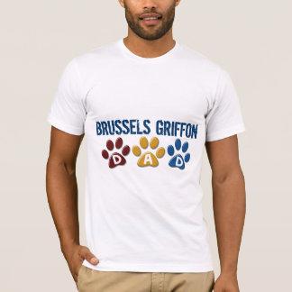 T-shirt Empreinte de patte 1 de PAPA de GRIFFON de