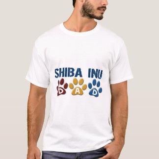 T-shirt Empreinte de patte 1 de papa de SHIBA INU