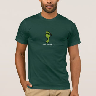T-shirt empreinte,terre, think ecology !