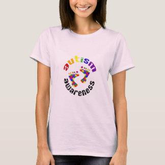 T-shirt Empreintes de pas de sensibilisation sur l'autisme