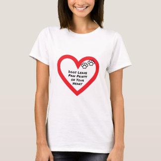 T-shirt Empreintes de pattes de congé de chiens sur votre