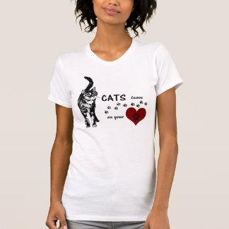 T-shirt Empreintes de pattes de délivrance de chat de