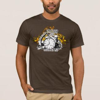 T-shirt Emprisonné dans la conception ambre d'art de