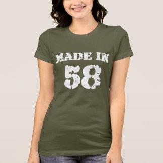 T-shirt En 1958 chemise faite