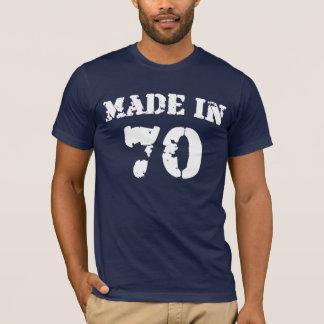 T-shirt En 1970 chemise faite