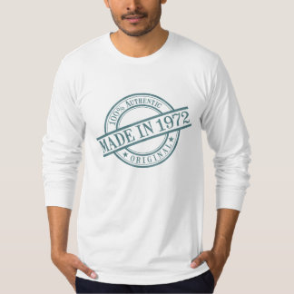T-shirt En 1972 logo fait de style de tampon en caoutchouc
