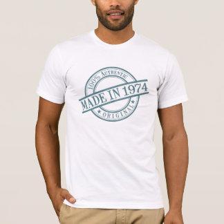 T-shirt En 1974 logo circulaire fait de style de tampon en
