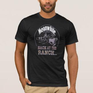 T-shirt En attendant, arrière au ranch