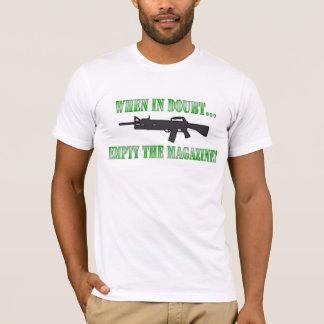 T-shirt En cas de doute… videz la magazine !