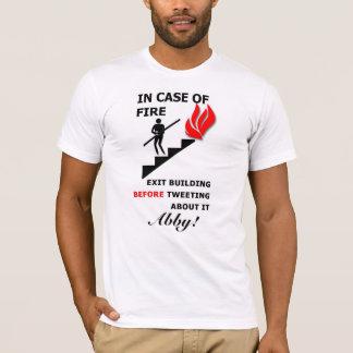 T-shirt En cas de feu