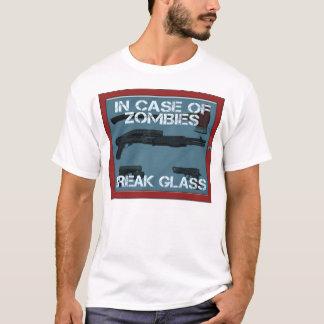 T-shirt En cas de verre de coupure de zombis