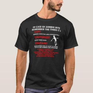 """T-shirt """"EN CAS de ZOMBI de MORSURE"""""""